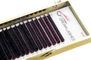 Eyelashes silk DREAM LASHES 0,075  curl D +