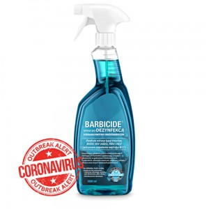 Barbicide liquid for disinfecting all surfaces, odorless
